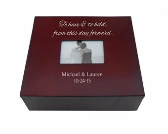 Wedding Memory Chest Personalized Wedding Keepsake Box With Photo