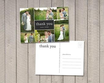 Wedding Thank You Postard (Printable) by Vintage Sweet