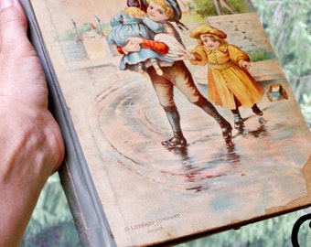 """Antique Childrens Book Circa 1800's """"After Play Stories"""""""