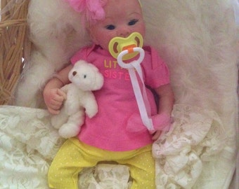 Completed Reborn Preemie Baby Ariel from the Kaydence 16 inch Kit  Completed Baby by Little Blessings