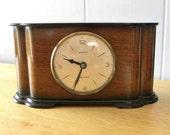 Vintage Clock Tempora Recycled Mantel Shelf Clock 1930's