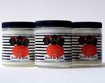 Halloween Candle - Bat - Pumpkin - Trick or Treat