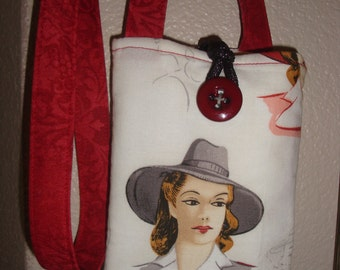 Lovely Lady mini cell/card bag