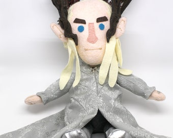 SALE Thranduil The Hobbit plush toy Lee Pace CLEARANCE