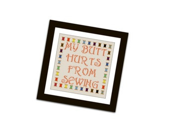 HALF OFF PATTERNS Sale Funny Sewing Quote Cross Stitch Pattern