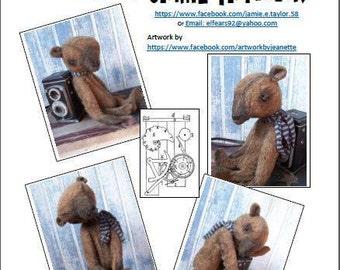 """Woobie Bear Pattern- Make a sweet little 11"""" bear-pdf digital file only"""