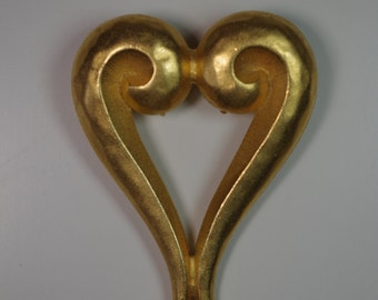 Vintage Large Heart Couture Brooch
