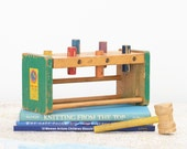 Vintage Wood Pounder Toy - Pound-A-Way by A Right-Time Toy