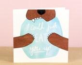 Bear Hug Valentine's Card
