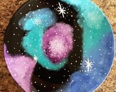 Hand Painted - Galaxy Serving Platter - Gift idea