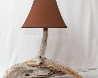 Rustic Driftwood Lamp with lamp shade