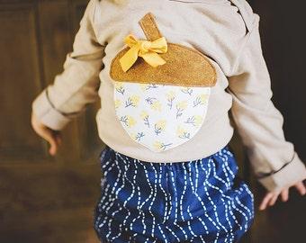 Swanky Shank Hand Dyed Little Miss Acorn Bodysuit