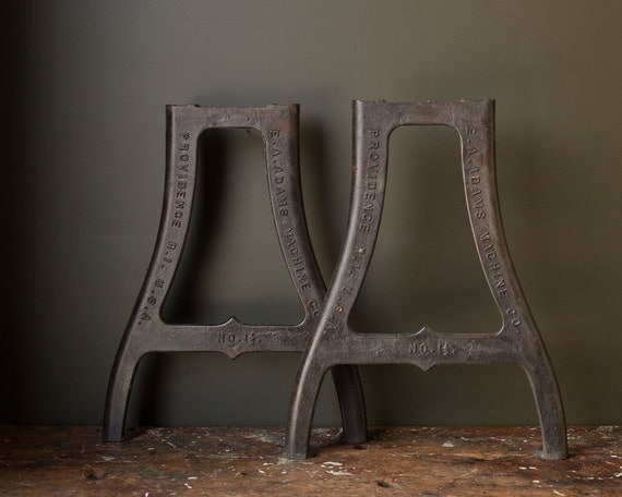 Vintage industrial metal table legs 1930 39 s by johnmihovetz - Pieds de table vintage ...