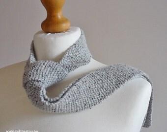 Grey flecked necktie - Scottish wool tie - Wedding ties - Plektra UK knits - Handmade in Scotland