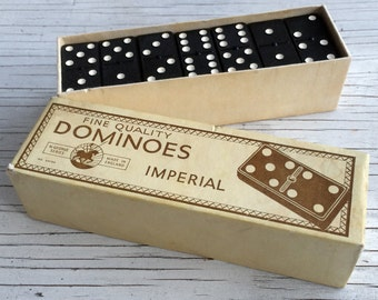Fine quality Imperial vintage dominoes, made in England. 1950s dominoes.