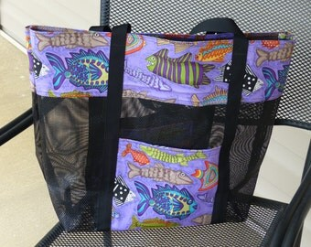 Colorful Fish Beach Bag