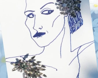 Vintage Juliana Jewelry Juliana D&E Rhinestone Brooch and Earring Set Vintage Demi-Parure