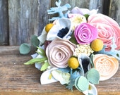 Felt Flower Bridal Bouquet - Custom / Made to Order