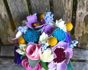 Felt Flower bouquet - bride, bridesmaids, table flowers, special occasion flowers