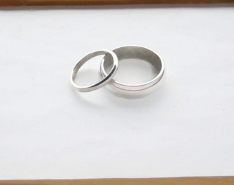 Silver Wedding Rings, Handmade Silver Wedding Rings, Eco Silver Wedding Bands, Bespoke, Certificate of Authenticity
