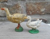 Vintage Miniature Metal Lead Duck or Goose Bird Farm Animal Figurine