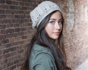 Women's Slouchy Hat in Oatmeal // The Ainsley