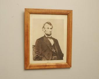 Vintage Abraham Lincoln Print