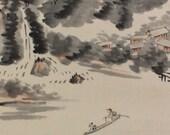 Japanese Fine Art Wall Hanging Scroll Sansui Landscape Kakejiku – 1501042