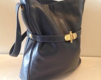 On Sale Vintage Designer SUSAN GAIL Leather Handbag/ Womens Purse/Vintage handbag/Vintage Purse/ Made in ITALY