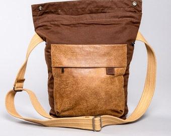 Messenger bag, Crossbody Bag, Canvas, Shoulder Bag, Brown Canvas Bag, Men Bag