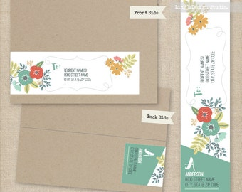Floral Wrap Around Address Labels | Printable or Printed Labels