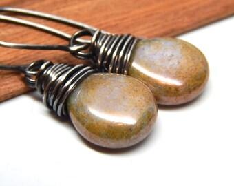 Bohemian jewelry,  silver bohemian earrings, bohemian sterling silver jewelry, gypsy gift idea