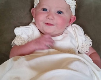Jess's Custom Christening or Baptism Gown made to order from your Wedding Dress