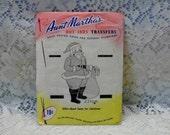 Aunt Martha's Hot Iron Transfers 23 inch Santa Claus For Christmas  3233 1960's Pattern Vintage Santa