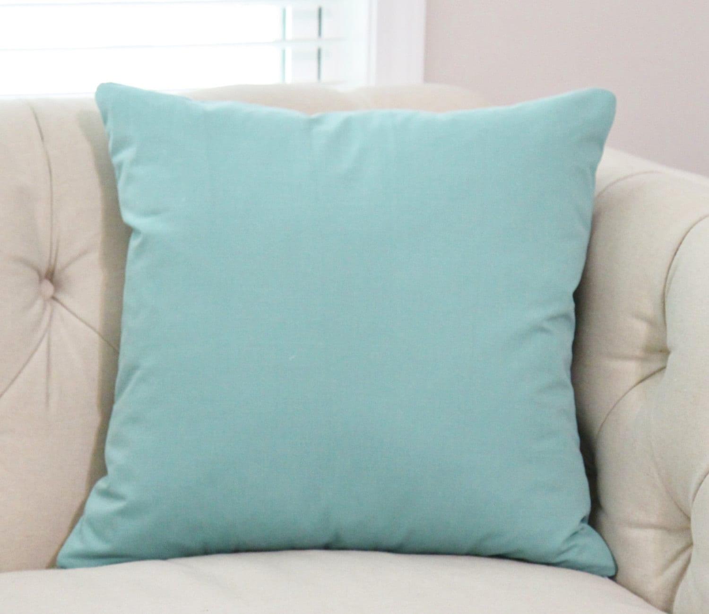 Teal Green Cover Blue Green Solid Pillow Aqua Green Blue