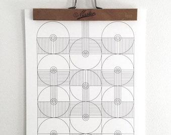 Heavenly Gate #1 - Geometric poster, graphic pattern, black and white poster, wall art, digital art prints, minimal art poster