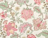 Custom Pillow Cover / Clarice Cir by P Kaufmann English Cream Floral Pink Green / Both Sides / Made to Order