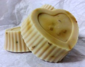 Rosewater Milk Heart Soap - Heart Shaped Bars of Biodegradable Organic Rose Soaps - An Environmentally Responsible way to Shop!