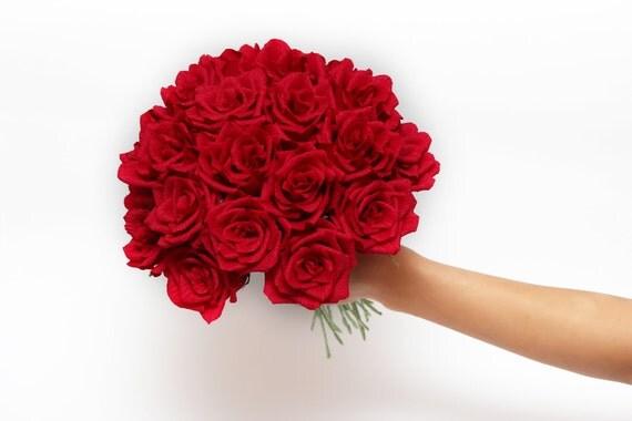 crepe paper flowers, 1 crepe rose, wedding flowers, wedding decoration, paper flower bouquets, ruffled crepe paper,