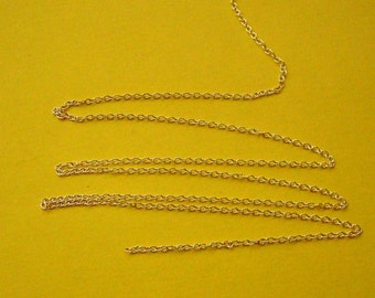 5 Feet, Thin Cable Chain, 1mm, Sterling Silver .925, SCH410