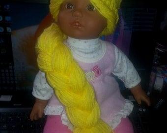 Rapunzel style crochet hat/wig