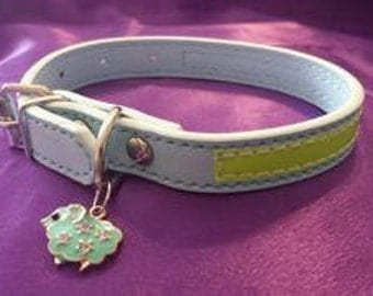 PET COLLAR: Fashion Charmed Pet Collar Small with Reflection Strip
