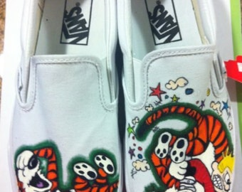 Custom Calvin & Hobbes Shoes