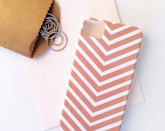 SALE - Chevron Stripe iPhone 4 /4S Case in Coral - Ready to Ship - For Her, Tech, Accessory, Designer, Bold, Geometric, Preppy