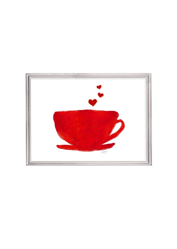 Coffee Cup Print, 5x7 Kitchen Print
