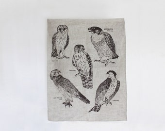 Birds of Prey Tea towel
