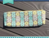 Small Pencil Pouch - Teal/Yellow