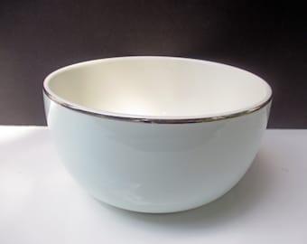 Universal China - Ballerina Mist Pale Blue with Platinum UNI 14 Large Mixing Bowl - 3 Qt 6 Oz