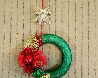 Wreath Christmas, Door Decoration, Xmas Wall Decor, Christmas Gift by Nchanted Gifts