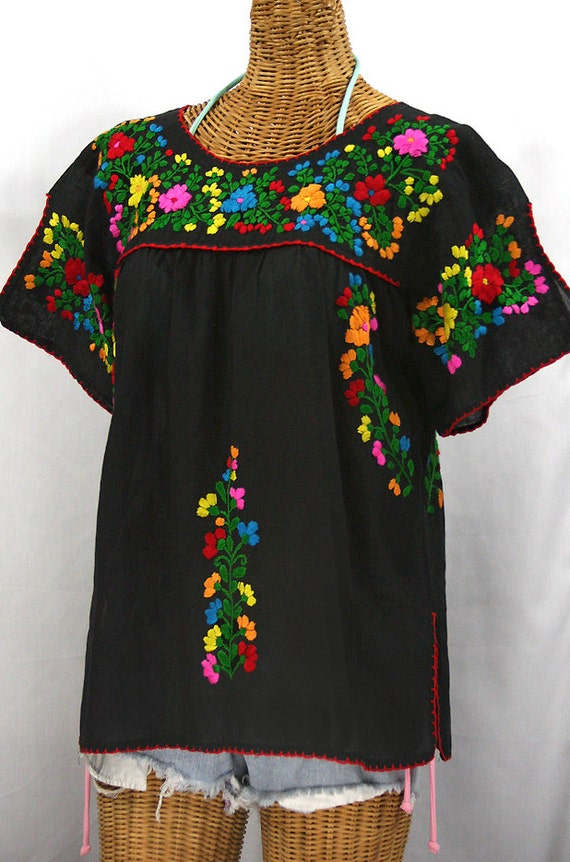 White Embroidered Mexican Blouse 103